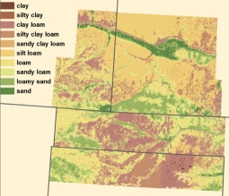 One of the soil maps John created for his work.