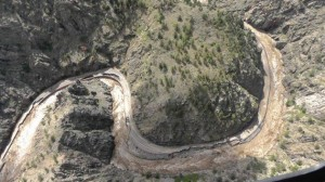 Figure 6. Highway 34 damage resulting from the 2013 Colorado Floods; photograph by Sheriff Justin Smith.