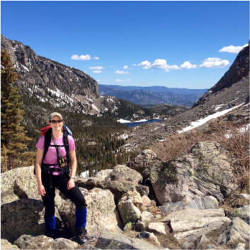 Helping the Loch Vale Watershed group at CSU with data collection in Rocky Mountain National Park in May 2014.